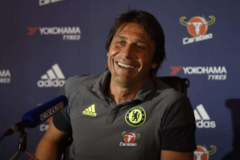 Britain Football Soccer - Chelsea - Antonio Conte Press Conference - Chelsea Training Ground - 14/10/16Chelsea manager Antonio Conte during the press conferenceAction Images via Reuters / Tony O'Brien