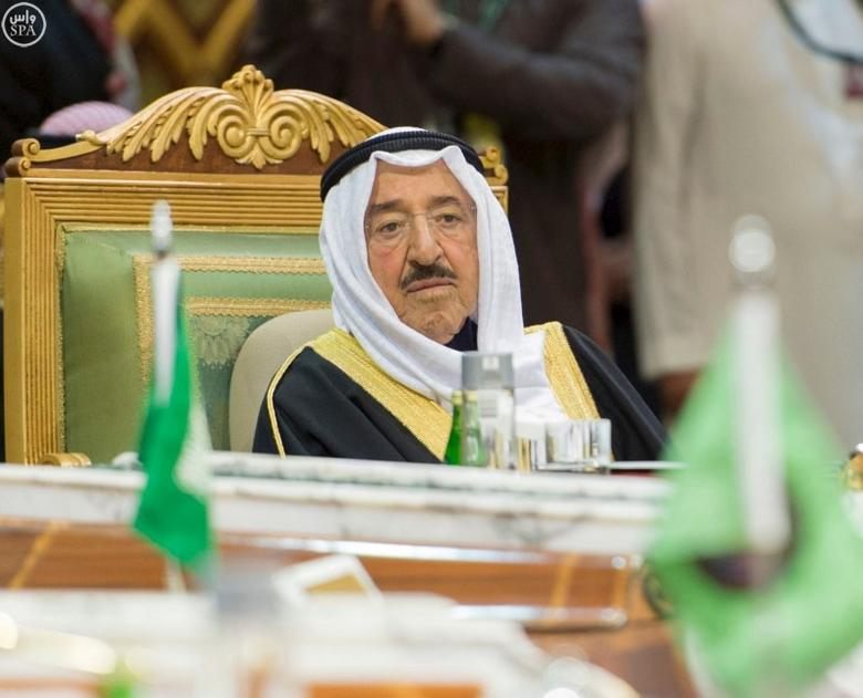 The Emir of Kuwait Sheikh Sabah Al-Ahmad Al-Jaber Al-Sabah attends the Gulf Cooperation Council (GCC) summit in Riyadh, Saudi Arabia December 9, 2015 in this handout photo provided by Saudi Press Agency. REUTERS/Saudi Press Agency/Handout via Reuters/Files