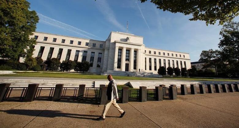"""图为美联储总部。美联储主席叶伦周五指出,美联储可能需要实施""""高压经济""""来弥补2008-2009年危机的伤害。REUTERS/Kevin Lamarque"""
