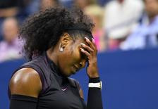 Serena Williams durante partida nos Estados Unidos.   01/09/2016     Robert Deutsch-USA TODAY Sports