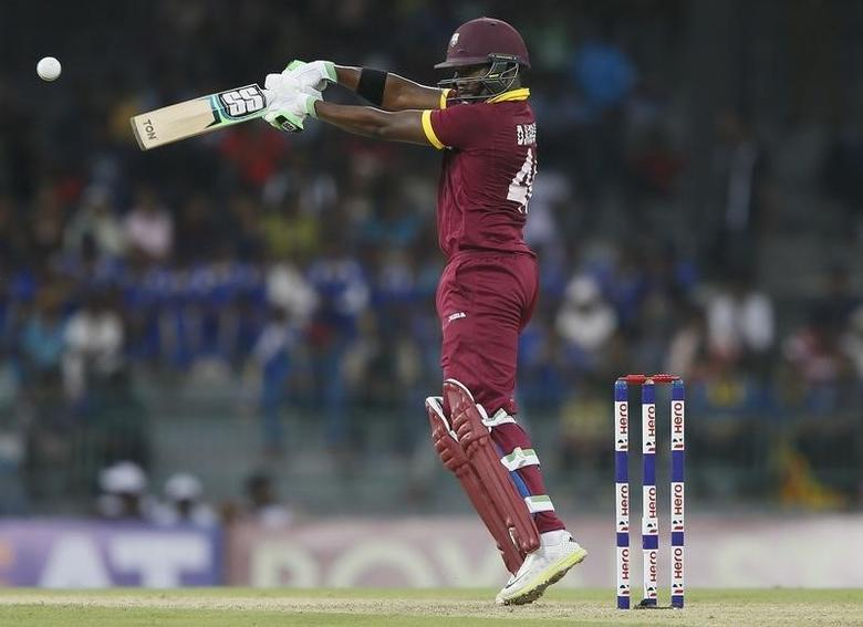 West Indies' Darren Bravo plays a shot during their first One Day International cricket match against Sri Lanka in Colombo November 1, 2015. REUTERS/Dinuka Liyanawatte