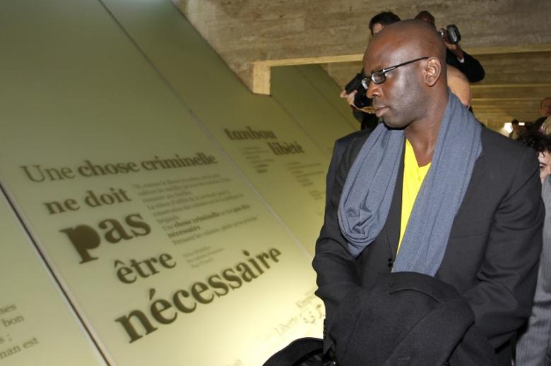 Former French soccer player Lilian Thuram attends the inauguration ceremony of the Memorial to the Abolition of Slavery, in Nantes in this file photo dated March 25, 2012. REUTERS/Stephane Mahe