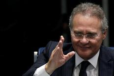 O presidente do Senado do Brasil Renan Calheiros durante sessão em Brasília, no Brasil 26/08/2015 REUTERS/Ueslei Marcelino