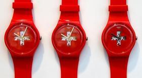 Le groupe horloger suisse Swatch voit de nouveau ses ventes progresser en Chine depuis juillet. /Photo prise le 21 juillet 2016/REUTERS/Arnd Wiegmann