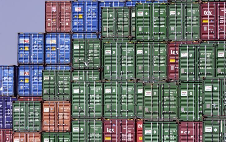 Cargo containers at the Port of Los Angeles in a file photo. REUTERS/Bob Riha, Jr.