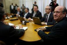 Ilan Goldfajn , presidente do Banco Central, reage durante encontro do Comitê de Política Monetária em julho. 19/07/ 2016. REUTERS/Adriano Machado