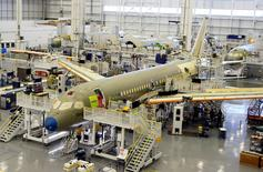 Bombardier's C Series aircrafts are assembled in their plant in Mirabel, Quebec, Canada on April 29, 2016.  REUTERS/Christinne Muschi/File Photo