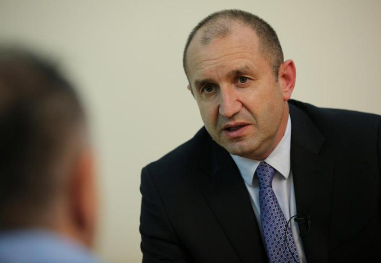 Rumen Radev, presidential candidate of the Bulgarian Socialist Party, speaks during an interview with Reuters in Sofia, Bulgaria, October 24, 2016. REUTERS/Stoyan Nenov