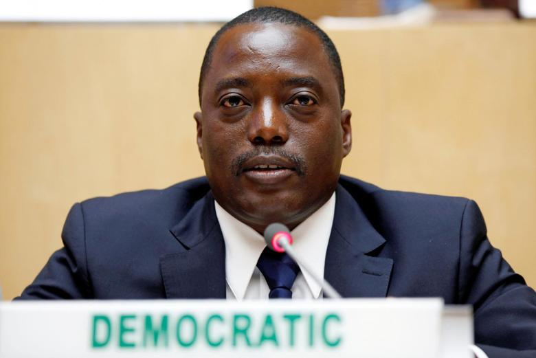Democratic Republic Congo's President Joseph Kabila attends the signing ceremony of the Peace, Security and Cooperation Framework for the Democratic Republic of Congo and the Great Lakes, at the African Union Headquarters in Addis Ababa, Ethiopia February 24, 2013. REUTERS/Tiksa Negeri/File Photo