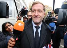 Minister-President of Wallonia Paul Magnette arrives at a meeting on the Comprehensive Economic and Trade Agreement (CETA), a planned EU-Canada free trade agreement, at the Lambermont Residence in Brussels, Belgium, October 27, 2016. REUTERS/Yves Herman