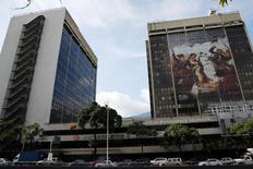 La casa matriz de la estatal Petróleos de Venezuela en Caracas, jul 21, 2016. Petróleos de Venezuela (PDVSA) canceló el viernes unos 1.000 millones de dólares del vencimiento e intereses de su bono al 2016, confirmó la compañía.  REUTERS/Carlos Garcia Rawlins