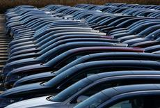 Ford and Lincoln vehicles are parked outside the Oakville Assembly Plant, as workers with UNIFOR attended a ratification vote nearby, in Oakville, Ontario, Canada November 6, 2016. REUTERS/Chris Helgren