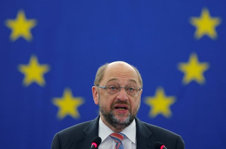 European Parliament President Martin Schulz attends a debate on the last European Summit at the European Parliament in Strasbourg, France, October 26, 2016.   REUTERS/Vincent Kessler