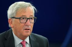 Juncker, presidente da Comissão Europeia, durante debate no Parlamento europeu em Estrasburgo  5/9/2016 REUTERS/Vincent Kessler