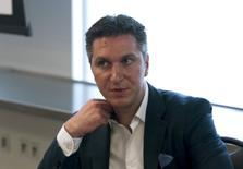 David Baazov, president and chief executive officer of gaming company Amaya Inc, looks on prior to their annual general meeting in Montreal, June 22, 2015. REUTERS/Christinne Muschi/File photo