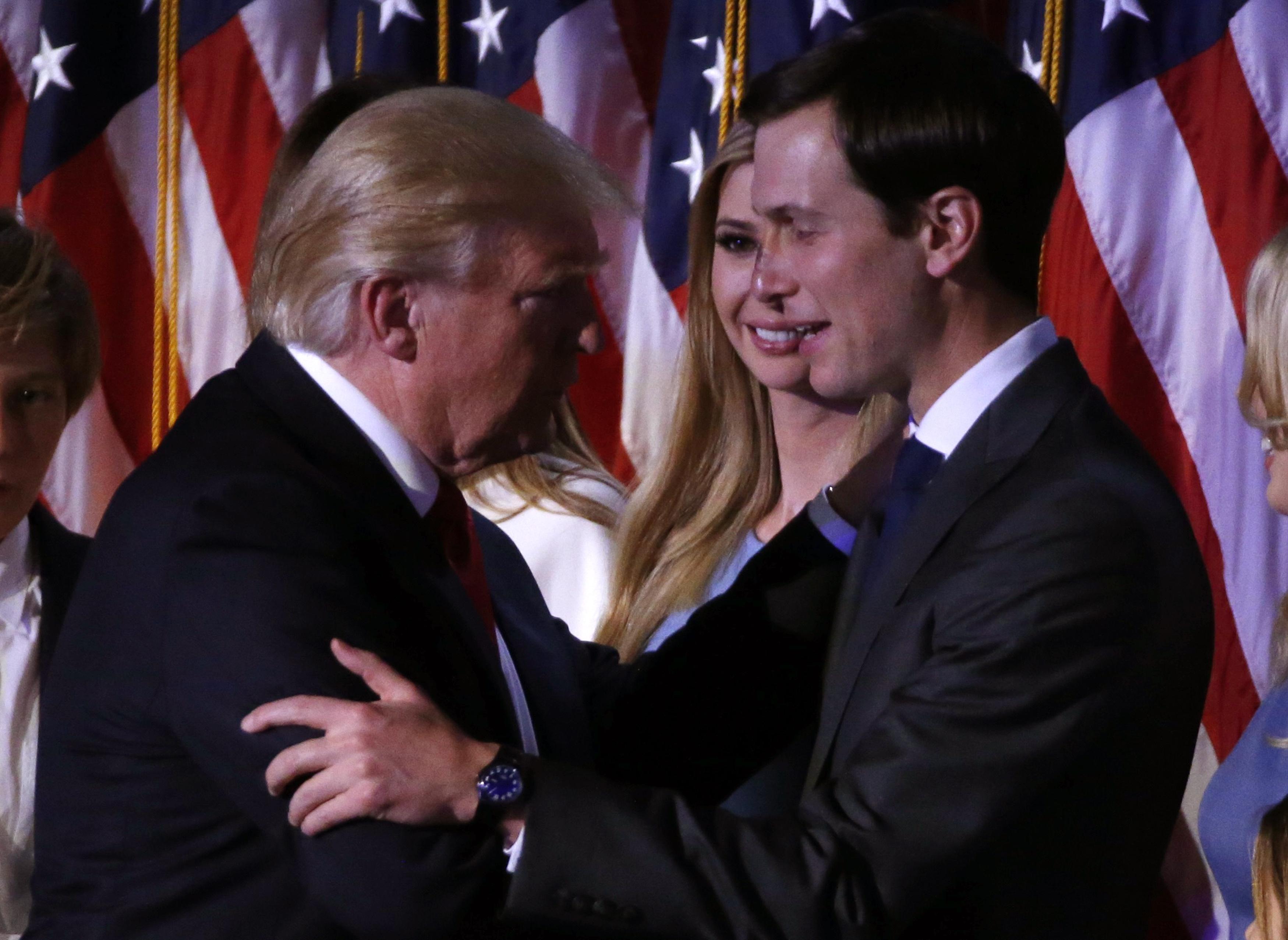 女婿库什纳准备在特朗普总统任期内发挥影响力