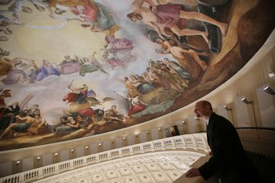 Inside the restored Capitol dome