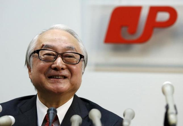 Masatsugu Nagato, incoming President of Japan Post Holdings Co., smiles as he attends a news conference at the Japan Post Group headquarters in Tokyo, Japan March 16, 2016.  REUTERS/Toru Hanai/File Photo - RTX2B45T