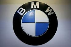 The logo of BMW is pictured at at the 37th Bangkok International Motor Show in Bangkok, Thailand, March 22, 2016. Picture taken March 22, 2016. REUTERS/Chaiwat Subprasom