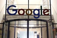 The Google logo adorns the entrance of Google Germany headquarters in Hamburg, Germany July 11, 2016. Picture taken July 11, 2016. REUTERS/Morris Mac Matzen