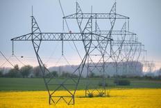Les tarifs d'utilisation des réseaux de distribution d'électricité en France augmenteront de 2,71% le 1er août prochain et ceux des réseaux de transport de 6,76%. /Photo d'archives/REUTERS/Pascal Rossignol