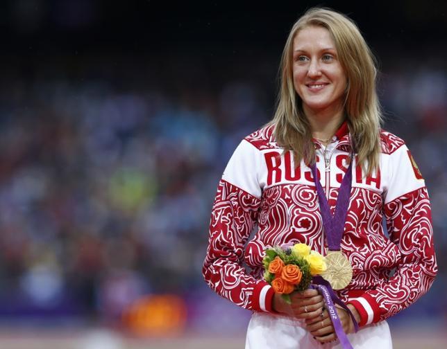 11月21日、国際オリンピック委員会は、ロンドン五輪の陸上女子3000メートル障害で優勝したユリア・ザリポワの金メダルを剥奪したと発表した。ロンドンで2012年8月撮影(2016年 ロイター/Eddie Keogh)