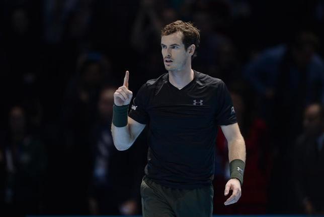 11月21日、男子テニスの世界ランク1位、アンディ・マリーはシーズン後半、圧倒的な強さを見せつけた。ロンドンで20日撮影(2016年 ロイター)