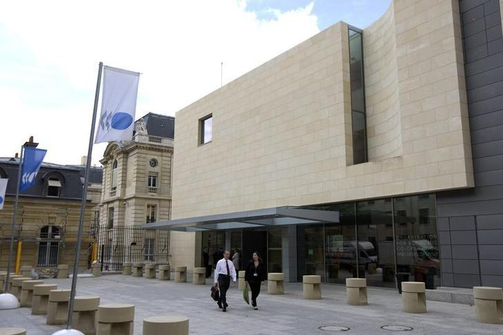 图为2009年9月资料图片,显示位于巴黎的OECD总部。REUTERS/Charles Platiau