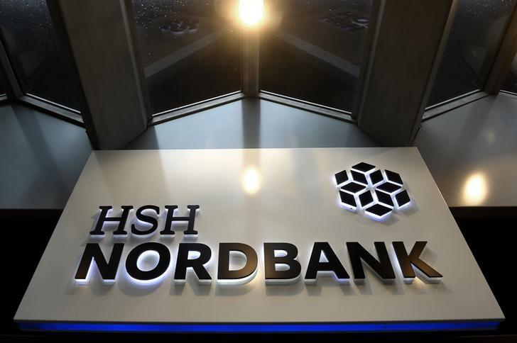 The HSH Nordbank is pictured in downtown Hamburg, October 25, 2014.          REUTERS/Fabian Bimmer (GERMANY  - Tags: BUSINESS)