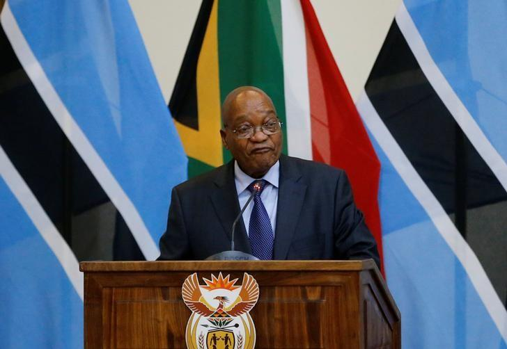 Jacob Zuma,president of South Africa speaks during the 3rd Session of the Botswana-South Africa Bi-National Commission (BNC) in Pretoria, South Africa, November 11, 2016. REUTERS/Siphiwe Sibeko/File