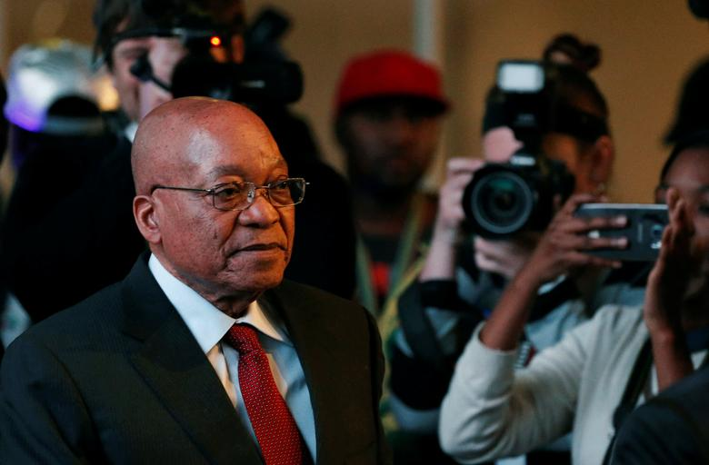 South African President Jacob Zuma arrives for the official announcement of the munincipal election results at the result centre in Pretoria, South Africa August 6, 2016. REUTERS/Siphiwe Sibeko/File Photo