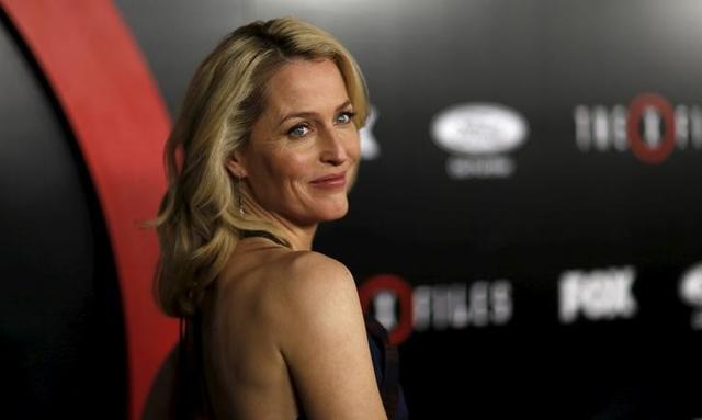 Cast member Gillian Anderson poses at a premiere for ''The X-Files'' at California Science Center in Los Angeles, California January 12, 2016. REUTERS/Mario Anzuoni/Files