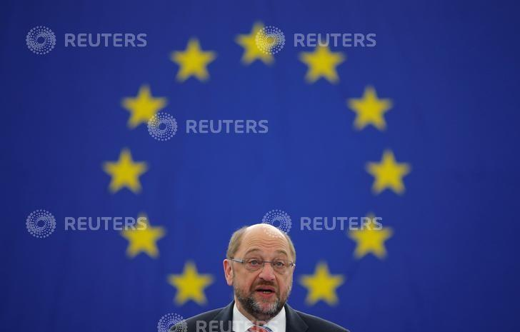 European Parliament President Martin Schulz attends a debate on the last European Summit at the European Parliament in Strasbourg, France, October 26, 2016.   REUTERS/Vincent Kessler