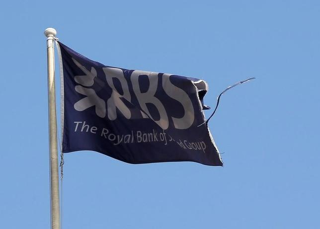 A flag flies above the head office of the Royal Bank of Scotland (RBS) in St Andrew Square in Edinburgh, Scotland September 11, 2014.   REUTERS/Russell Cheyne/File Photo