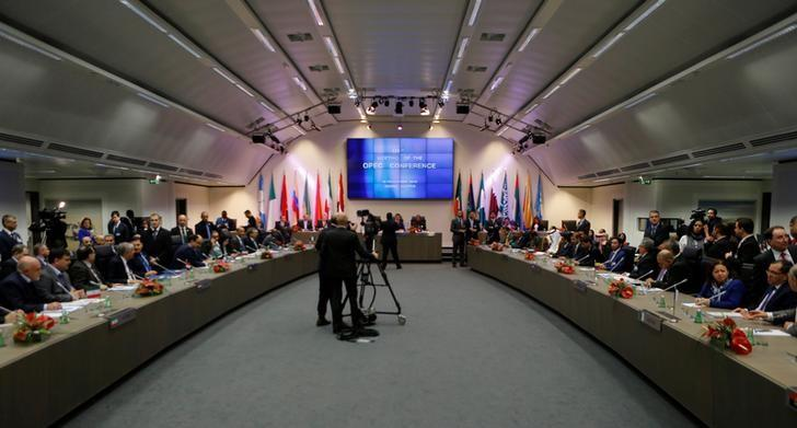 A general view of the beginning of a meeting of the Organization of the Petroleum Exporting Countries (OPEC) in Vienna, Austria, November 30, 2016. REUTERS/Heinz-Peter Bader