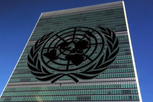 11月30日、国連安全保障理事会は、9月に5回目の核実験を行った北朝鮮への制裁を強化する決議案を全会一致で採択した。NY市の国連本部で9月撮影(2016年 ロイター/Carlo Allegri)