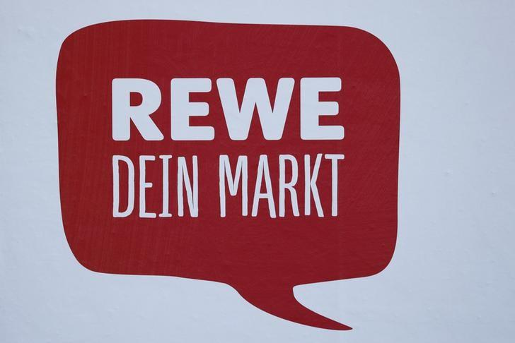 A sign reading 'Rewe Your Market' is pictured in a German supermarket Rewe in Hanau, Germany, March 17, 2016. Rewe said it would file a complaint to the higher regional court in Duesseldorf after Economy Minister Sigmar Gabriel on Thursday approved a merger of rivals Edeka and Kaiser's. REUTERS/Kai Pfaffenbach