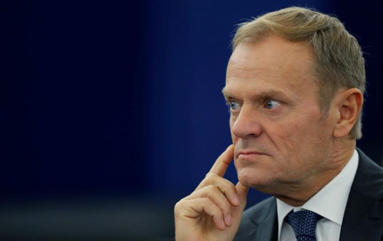 European Council President Donald Tusk attends a debate on the last European Summit at the European Parliament in Strasbourg, France, October 26, 2016.   REUTERS/Vincent Kessler