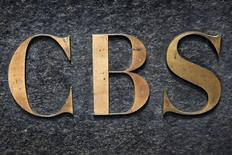 The CBS television network logo is seen outside their offices on 6th avenue in New York, U.S., May 19, 2016.   REUTERS/Shannon Stapleton