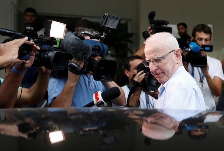 Former top European member of the International Olympic Committee (IOC), Patrick Hickey,  leaves a police station in Rio de Janeiro, Brazil, September 6, 2016. REUTERS/Ricardo Moraes