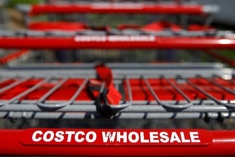 Shopping carts are seen at a Costco Wholesale store in Glenview, Illinois, U.S. May 24, 2016.   REUTERS/Jim Young