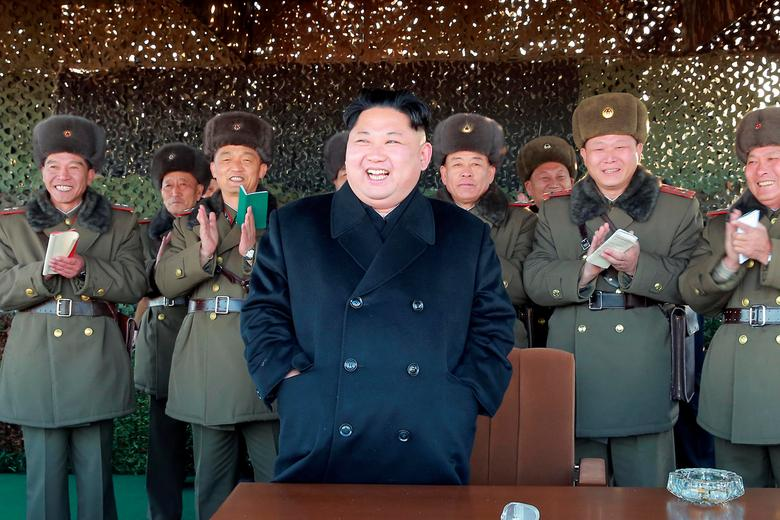 North Korean leader Kim Jong Un attends an intensive artillery drill of the KPA artillery units on the front in this image released by North Korea's Korean Central News Agency (KCNA) in Pyongyang December 2, 2016. KCNA/ via REUTERS