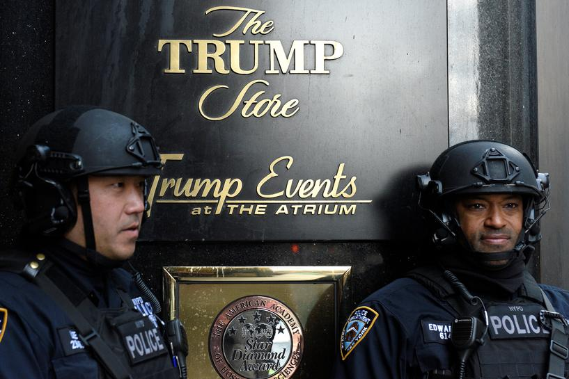 New York City seeks U.S. funds for $1 million daily security costs for Trump
