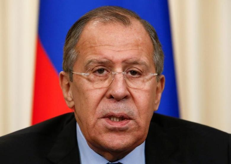Russian Foreign Minister Sergei Lavrov attends a news conference after the talks with his Japanese counterpart Fumio Kishida in Moscow, Russia, December 3, 2016. REUTERS/Sergei Karpukhin