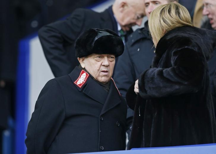 Football Soccer - Everton v West Ham United - Barclays Premier League - Goodison Park - 5/3/16West Ham co chairman David Sullivan in the standsAction Images via Reuters / Carl RecineLivepic/files