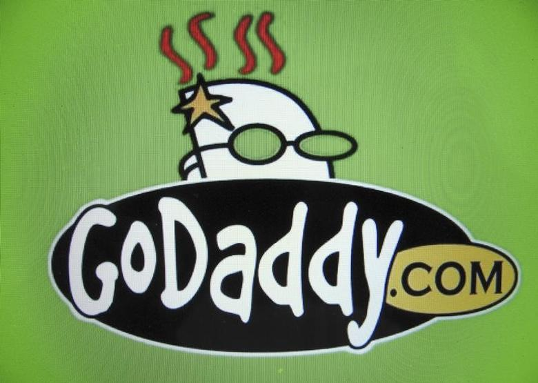 The logo for internet company GoDaddy inc is shown on a computer screen in this illustration photo in Encinitas, California May 3, 2016.      REUTERS/Mike Blake