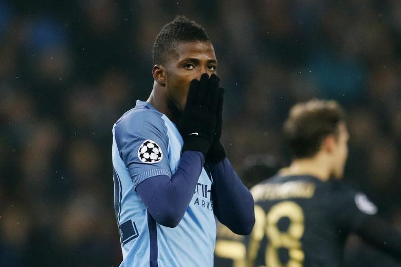 Britain Football Soccer - Manchester City v Celtic - UEFA Champions League Group Stage - Group C - Etihad Stadium, Manchester, England - 6/12/16 Manchester City's Kelechi Iheanacho reacts after a missed chance Reuters / Phil Noble Livepic