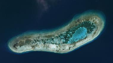 Vietnamese-held Ladd Reef, in the Spratly Island group in the South China...