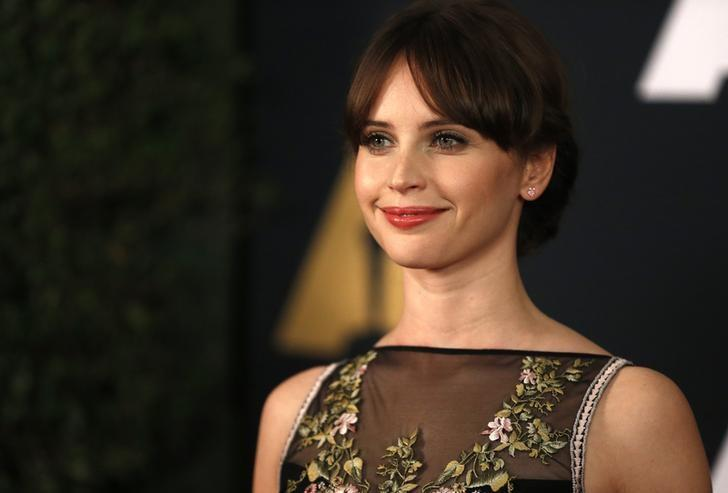 Actress Felicity Jones arrives at the 8th Annual Governors Awards in Los Angeles, California, U.S., November 12, 2016.  REUTERS/Mario Anzuoni/Files
