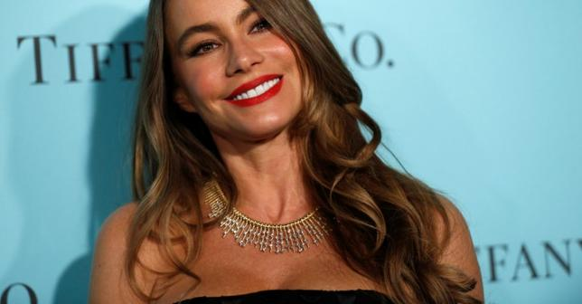Actor Sofia Vergara poses at a reception for the re-opening of the Tiffany & Co. store in Beverly Hills, California U.S., October 13, 2016.   REUTERS/Mario Anzuoni